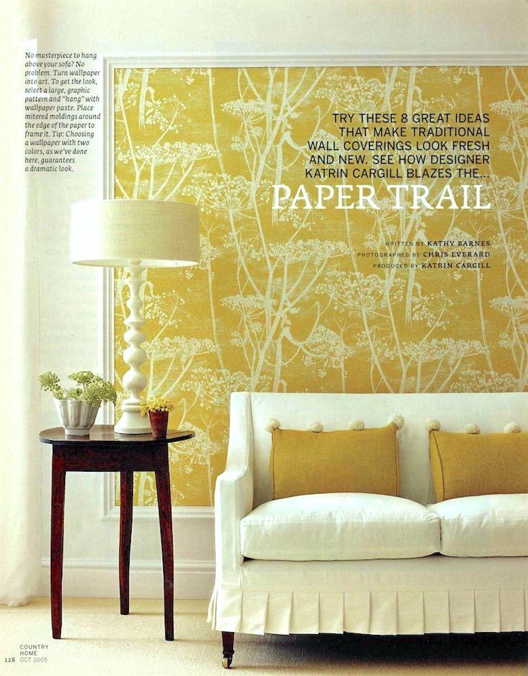 Yellow Feature Wallpaper Living Room | Conceptstructuresllc.com