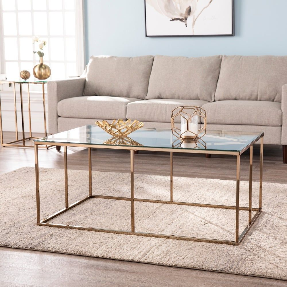 Overstock Com Online Shopping Bedding Furniture Electronics Jewelry Clothing More Glass Top Coffee Table Coffee Table Metal Cocktail Table [ 1000 x 1000 Pixel ]
