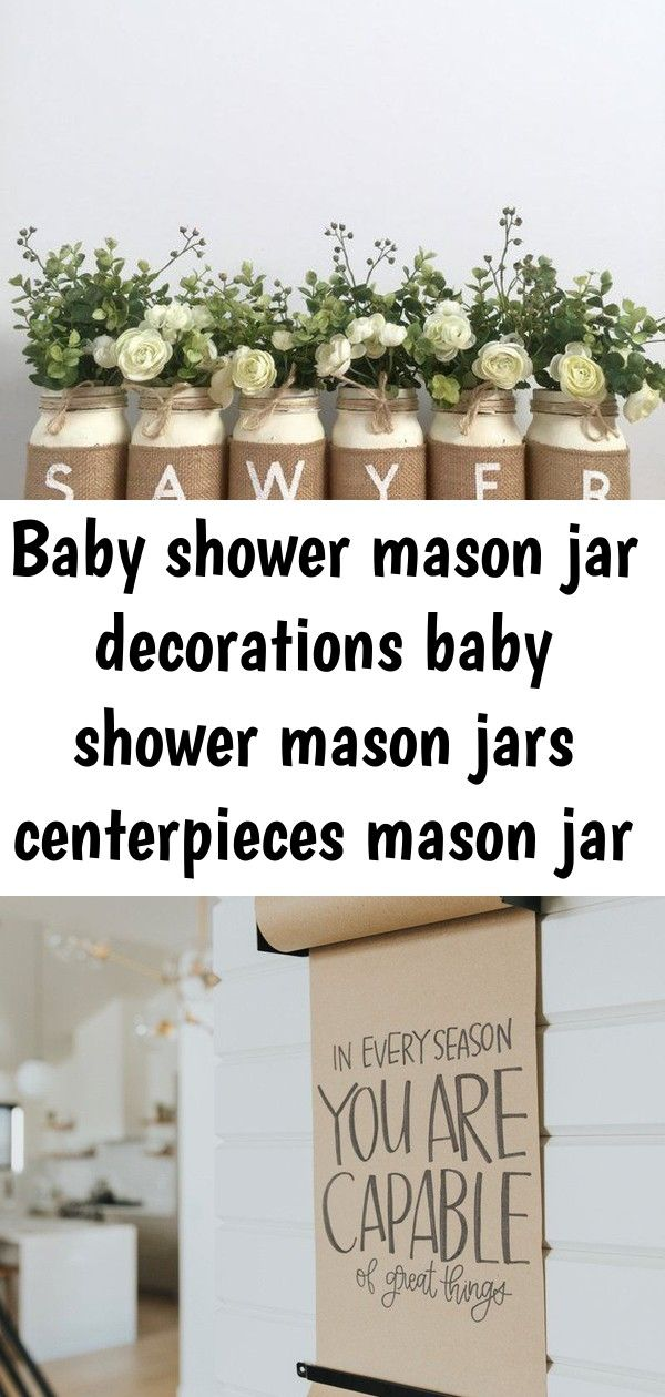 Baby shower mason jar decorations baby shower mason jars centerpieces mason jar decor baby shower 6 #masonjarbathroom