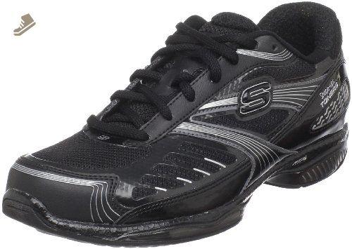 Skechers Women S Shape Ups Toners Ultra Fit Sneaker Black Silver 5