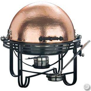 Rent-E-Quip's Copper Hammered Round 6 Quart Chafer.