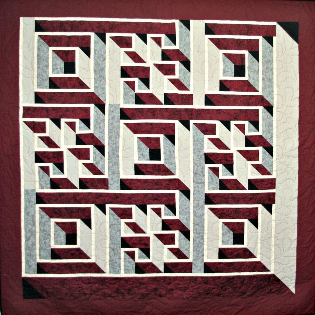 Labyrinth Walk   labyrint   Pinterest   3d quilts, Patchwork and ... : free labyrinth quilt pattern - Adamdwight.com