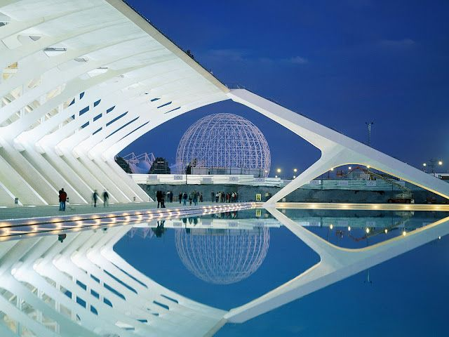 Ciudad de las Artes y las Ciencias, Valencia, Spain.
