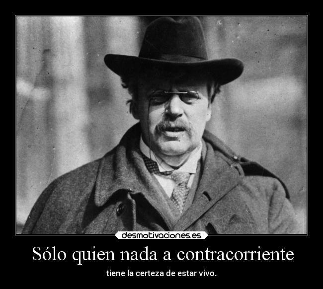 """Jose Ignacio Munilla en Twitter: """"""""Solo quien nada a contracorriente tiene la certeza de estar vivo"""" (Chesterton) https://t.co/GIpXRGyHBl"""""""