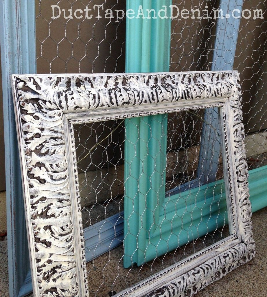 Chicken Wire Frames - DIY Repurposed Thrift Store Find | Chicken ...