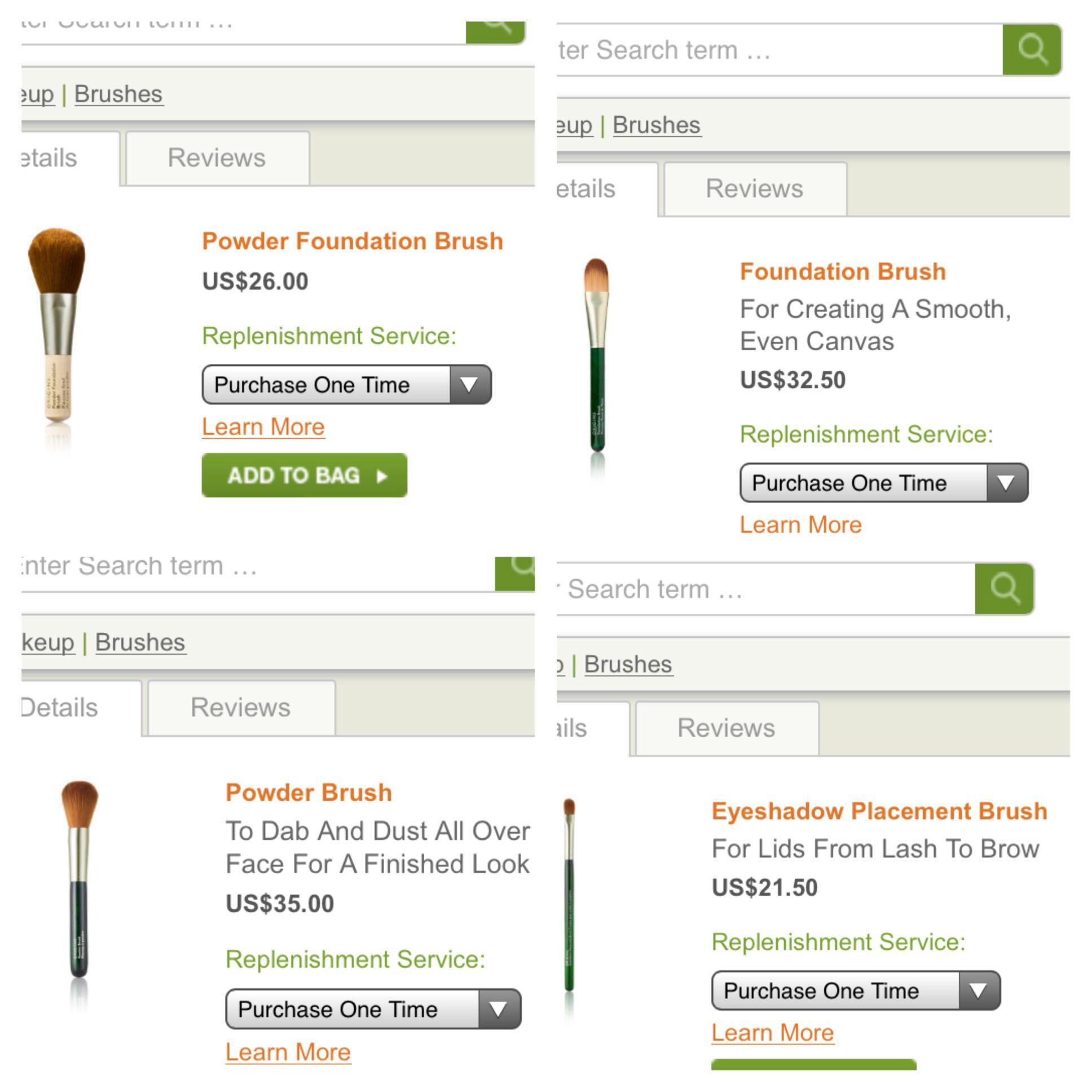 Origins Makeup Brush Set Makeup brush set, Foundation