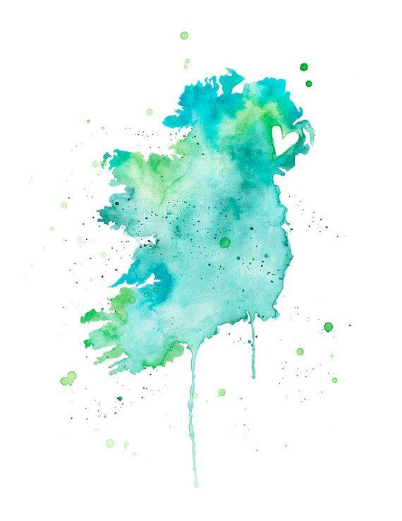5x7 - Ireland and Northern Ireland Love on Etsy, $13.45 AUD