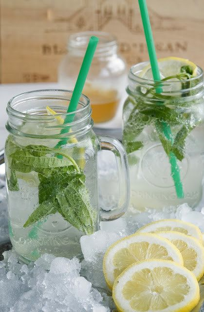 Lemon Verbena-Mint Sparking Water | 23 Refreshing Summer Drinks That Will Help You Kick Your Soda Habit
