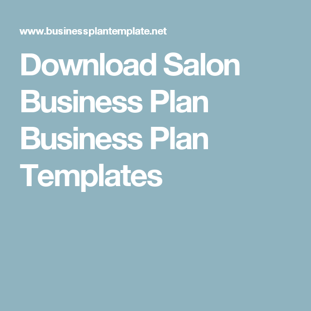 Download salon business plan business plan templates business plan download salon business plan business plan templates accmission Choice Image