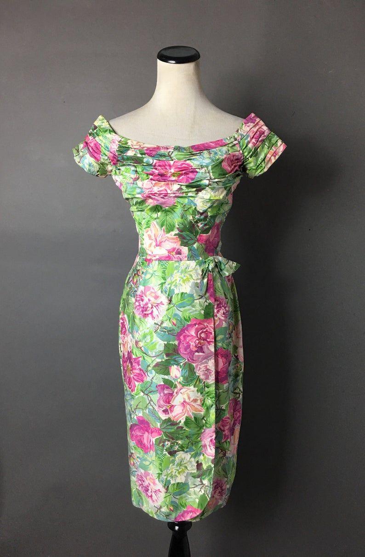 Vintage 50s Dress 1950s Dress Ceil Chapman Wiggle Dress Floral Dress Cocktail Dress Party Dress Rose Dress Prom Dress 3260 Vintage Dresses 50s Cocktail Dress Party Vintage Dresses [ 1212 x 794 Pixel ]