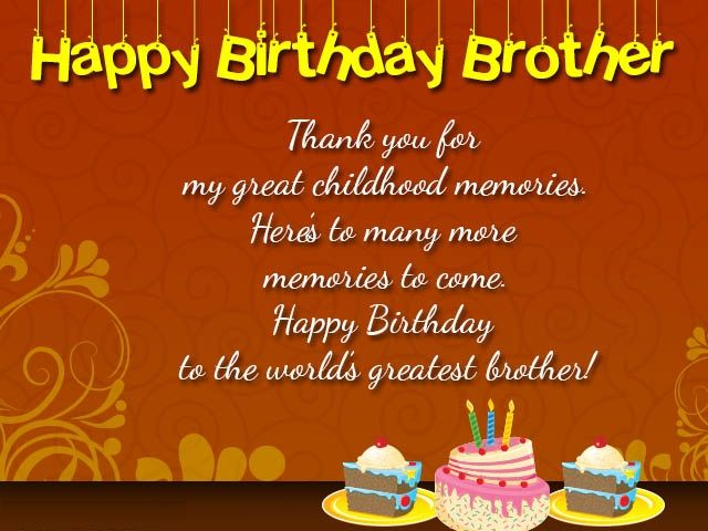 Happy Birthday Cards For Brother Happy Birthday Wishes For Friend