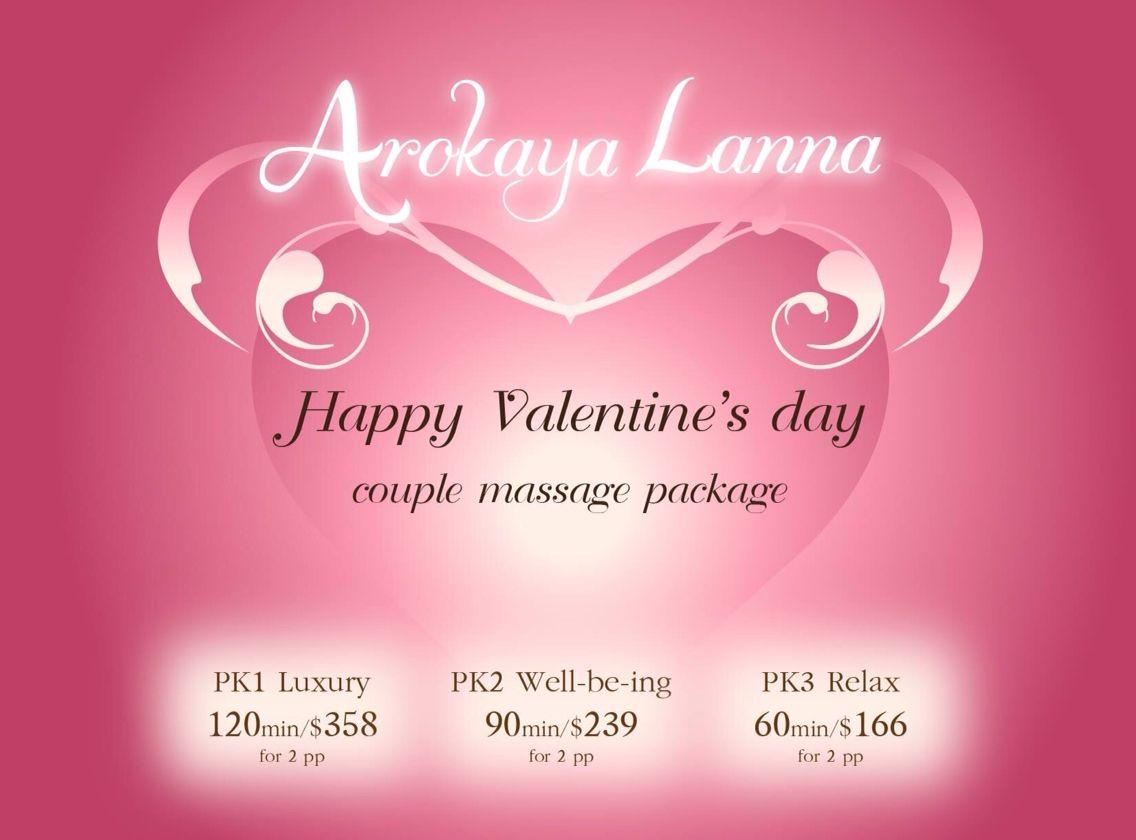 Happy Valentine S Day Arokaya Lanna Spa Promotion For Couples