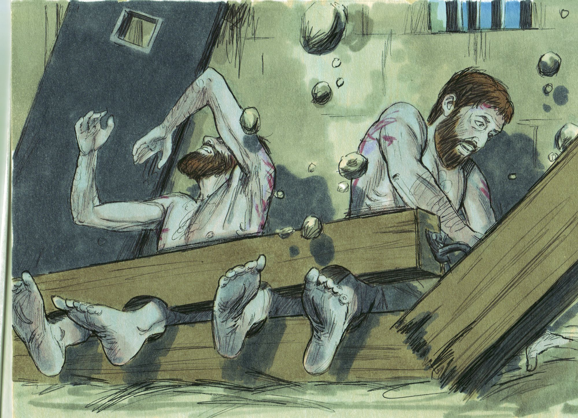 Paul & Silas in jail | Bible Crafts & Miscellaneous | Pinterest ...