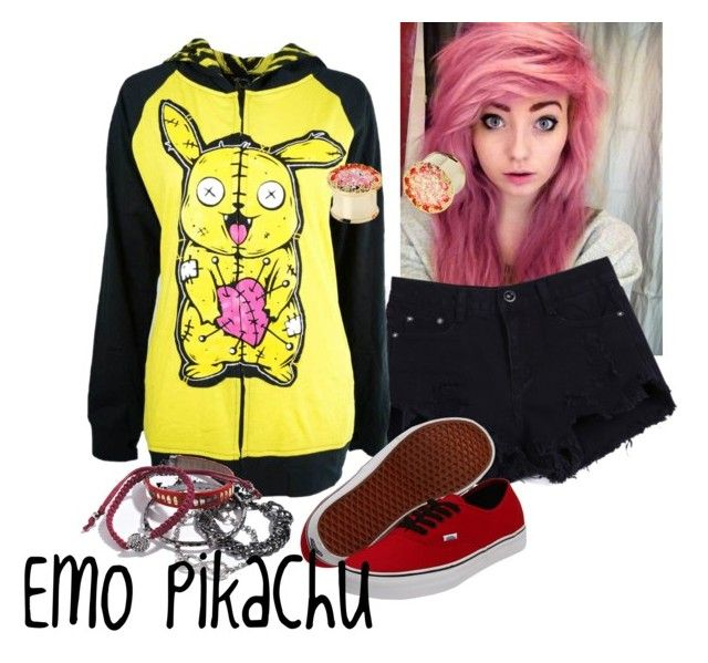 """Emo Pikachu"" by kaitlyn-mcalister ❤ liked on Polyvore"
