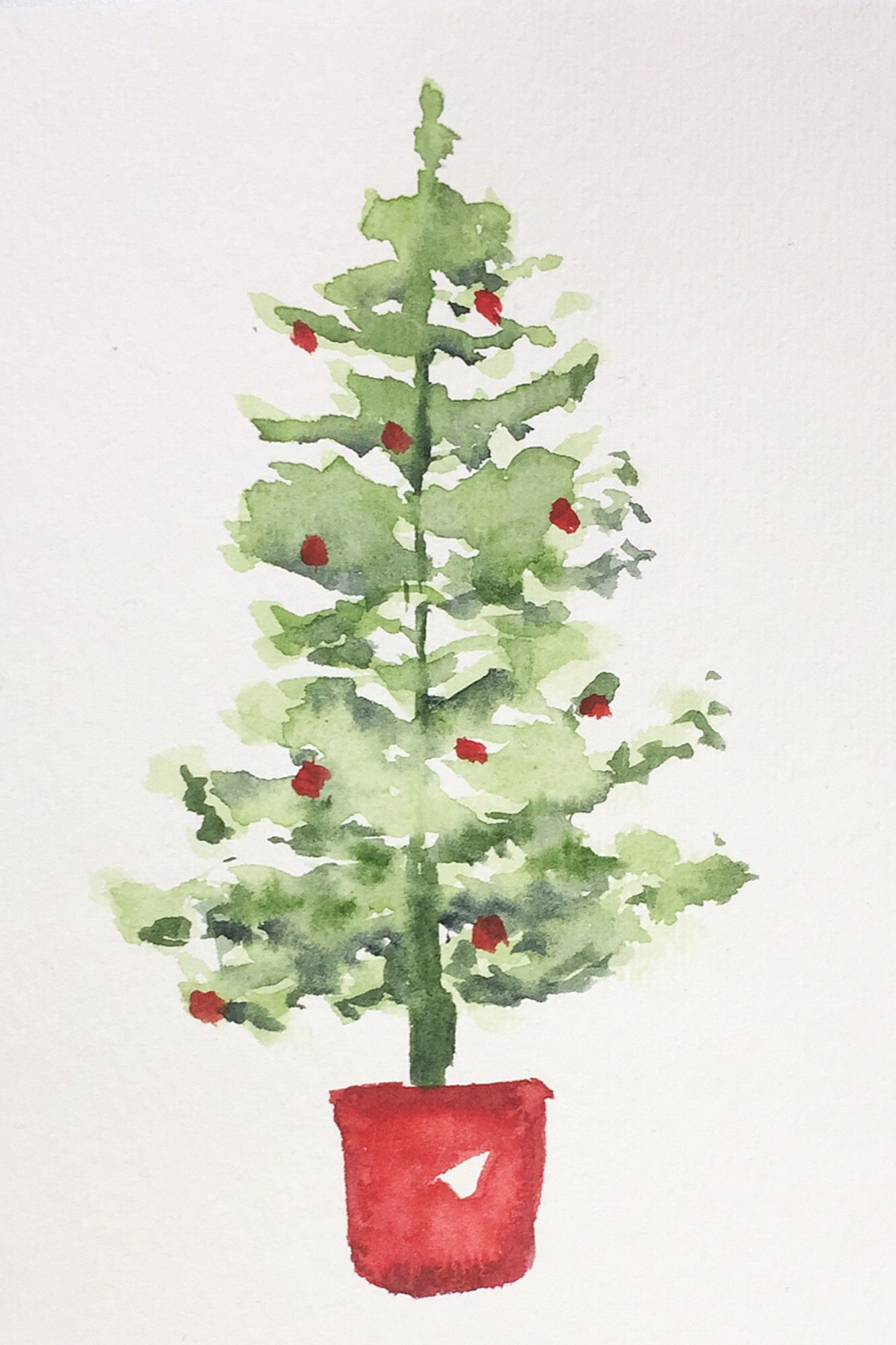 Christmas Tree Watercolor Watercolor Christmas Tree Watercolor