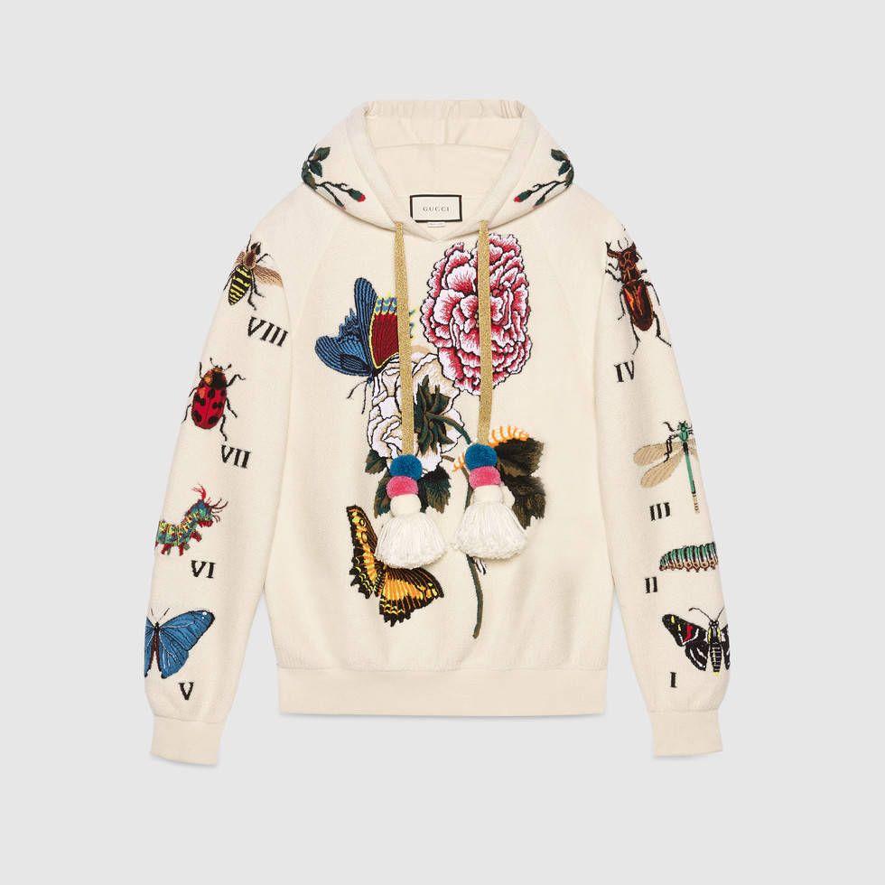 1435ac26f Embroidered wool hooded sweatshirt | trend 2017 | Gucci sweatshirt ...