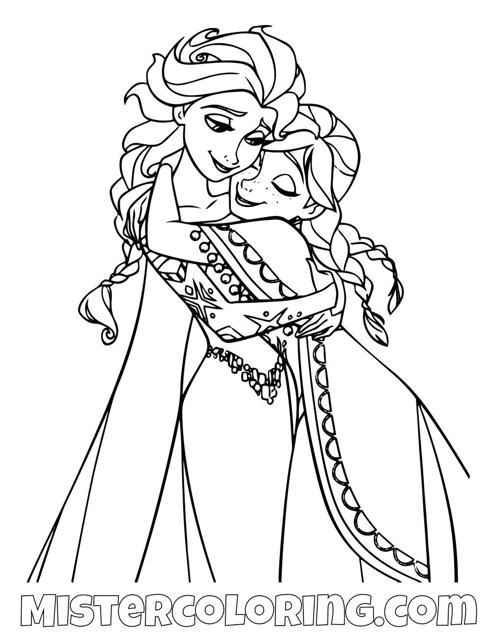 Frozen 2 Coloring Pages For Kids image by Mister Cijo