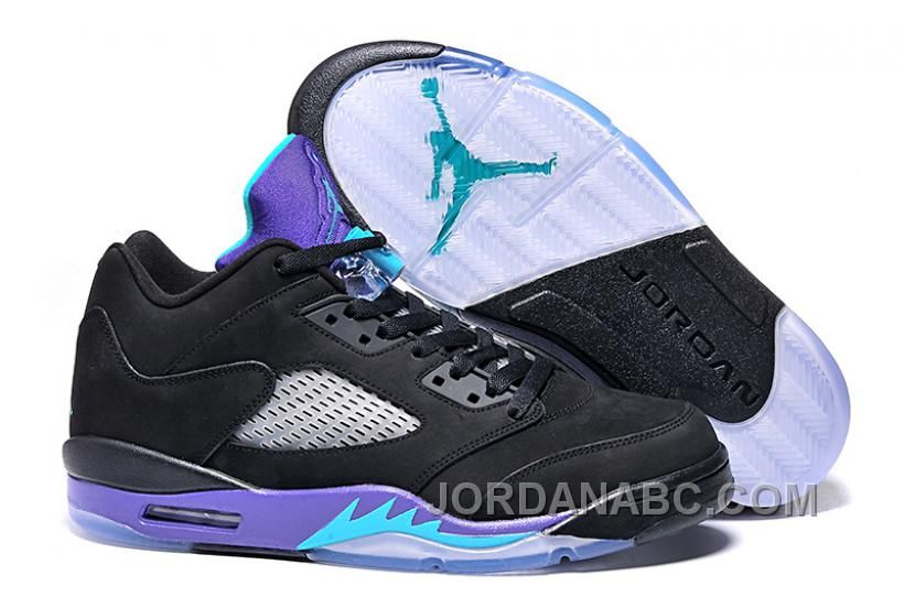 competitive price e7892 b166c Air Jordan 5 Retro Low Black Grape Black New Emerald Grape Ice   Black  grapes, Air jordan and Emeralds