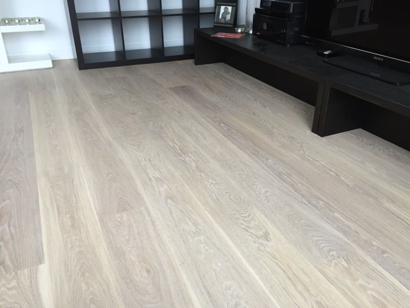 European White Oak Finished With Woca Oil White Flooring