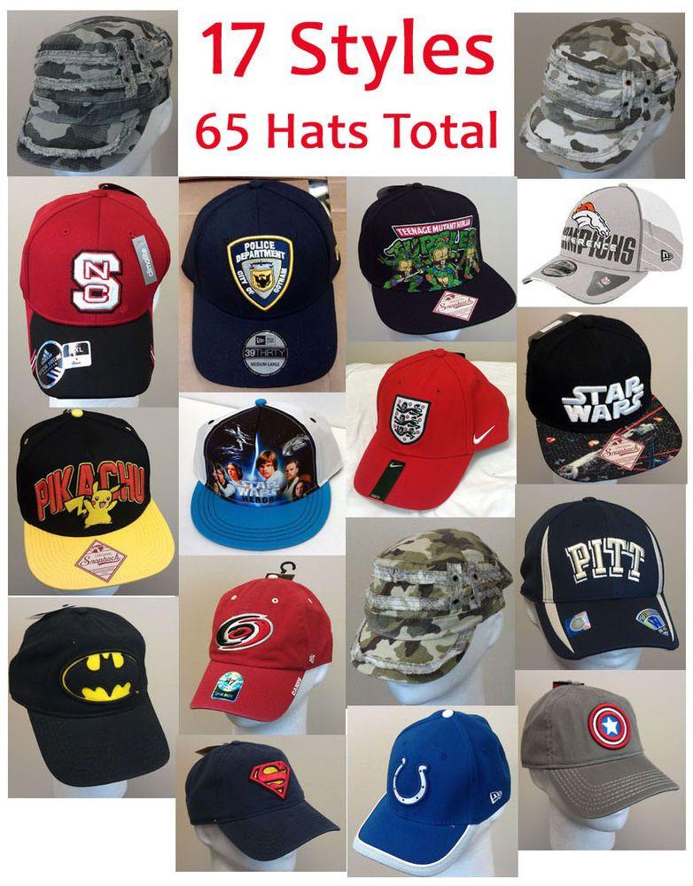 finest selection 6c969 5cd36 AUCTION  65 Pc Wholesale Hat Cap Lot Batman Star Wars Pikachu Sports NWT   1400 Tot Ret  NewEra  OriginalSnapBack  adidas  BaseballCap  Hats   polyvore ...