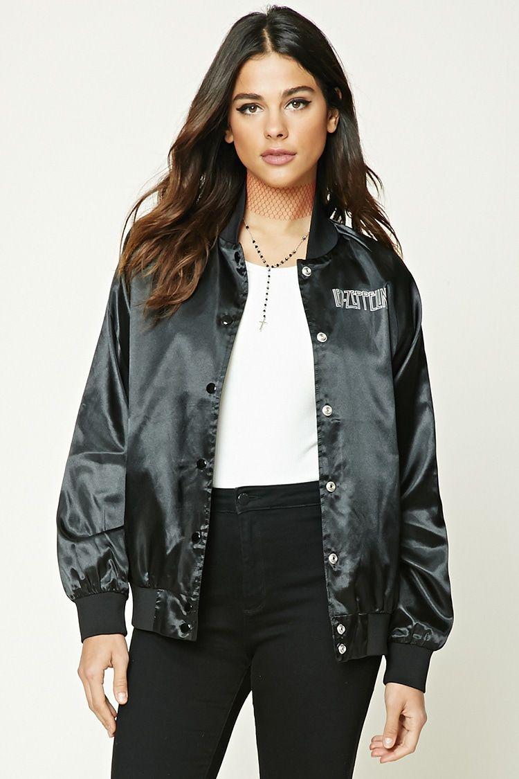 eaf5666f1 A satin bomber jacket featuring a
