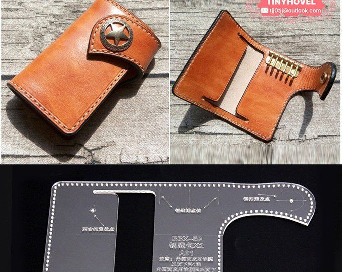 leather key case  keychain key pouch  card holder