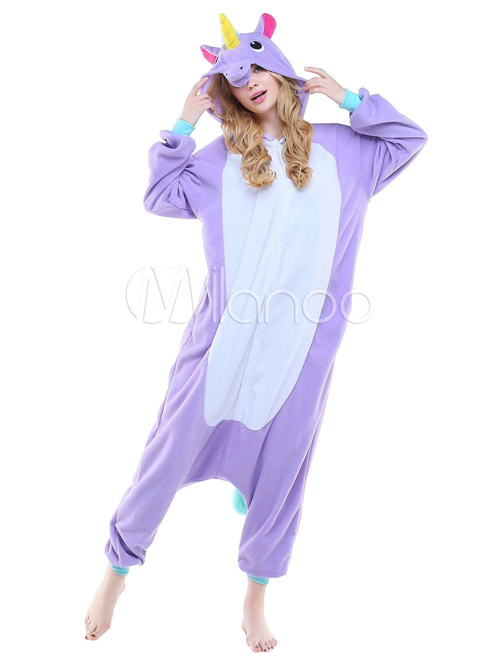 Kigurumi Pajama Licorne Unicorn Onesie Adults Unisex Flannel Animal Costume  Halloween  affiliate 3be6311d5