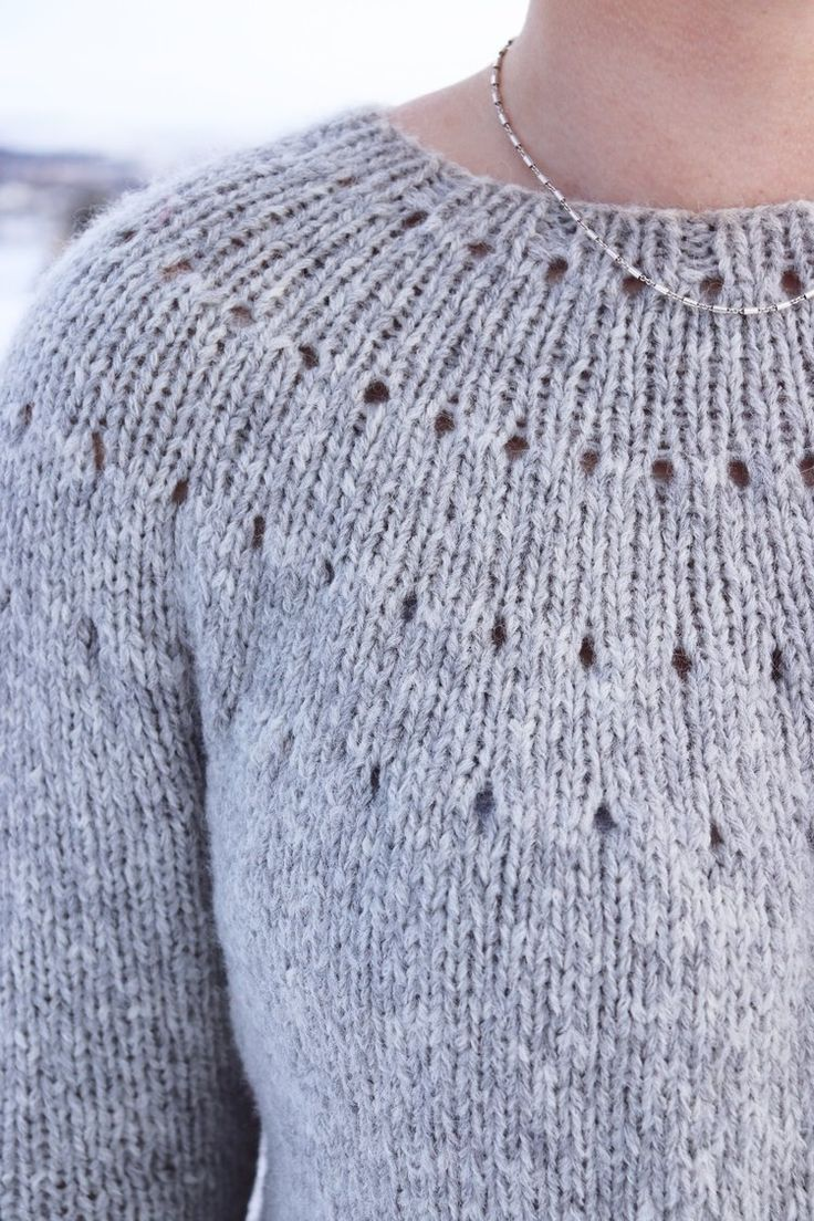 Photo of Knitting A Top Down Yoke Sweater – The Easy Eyelet Yoke Sweater — Knitatude