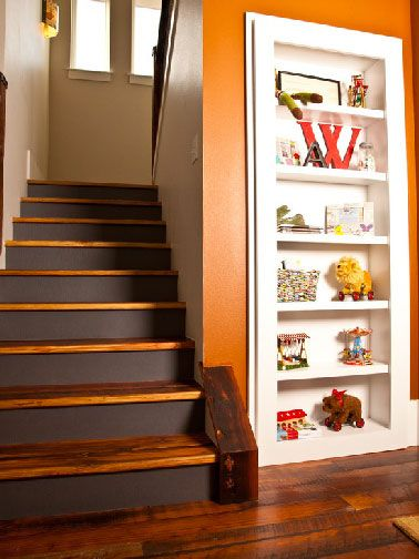 escalier peint inspiration couleur et