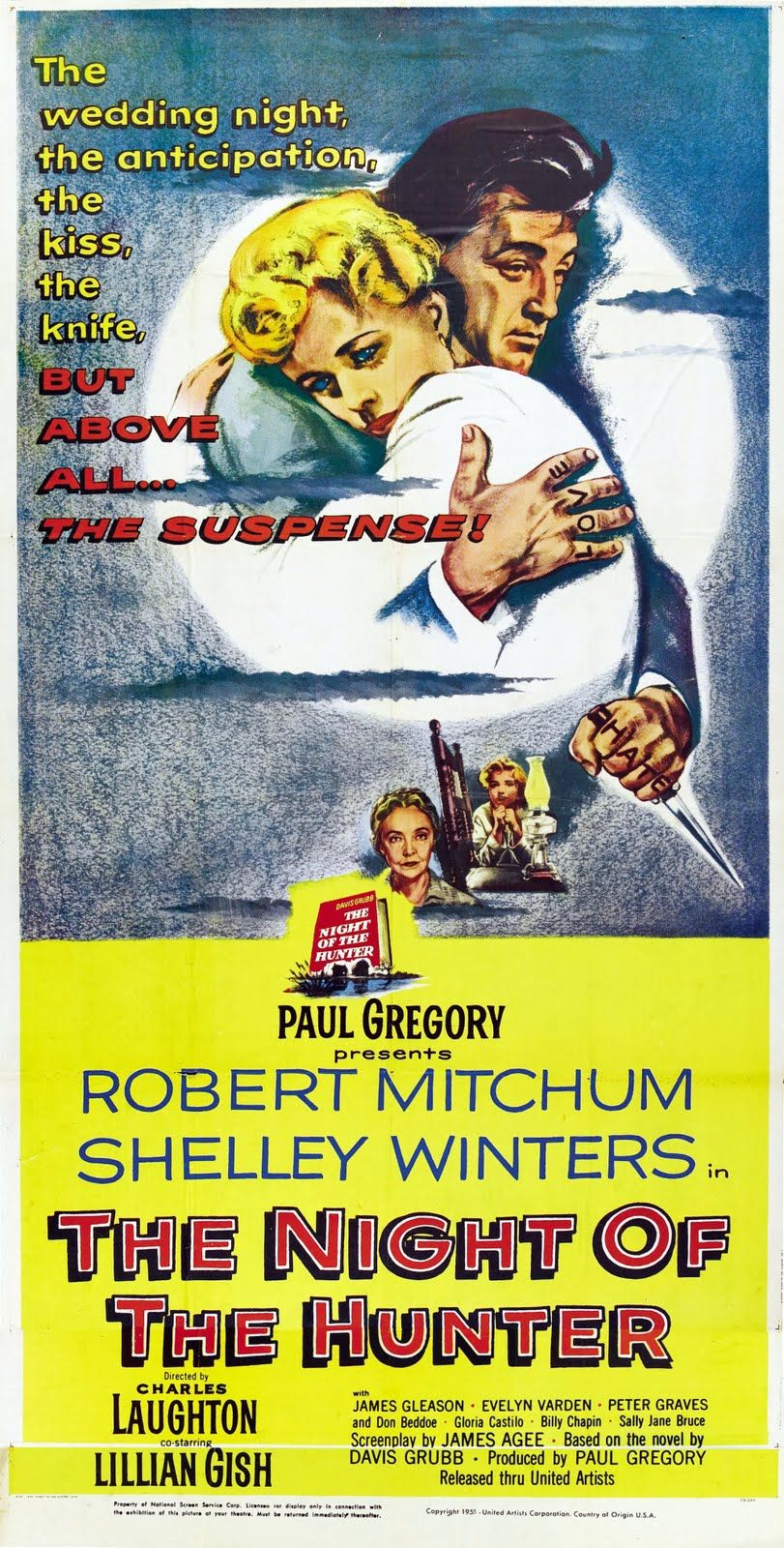 The Night Of The Hunter 1955 Vintage Film Posters Hunter