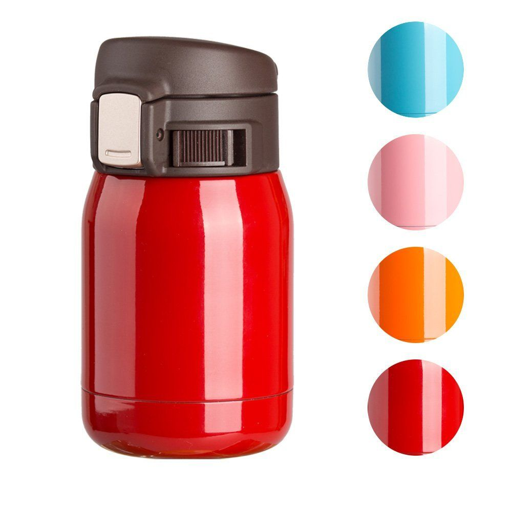 Tqz Small 6 Ounce Vacuum Insulated Coloring Stainless Steel Travel Mug Leak Proof Double Walled Mini Bottle C Mini Bottles Stainless Steel Travel Mug Bottle