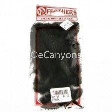 Zucker Feather Hackle Black .04oz   Price : $0.79