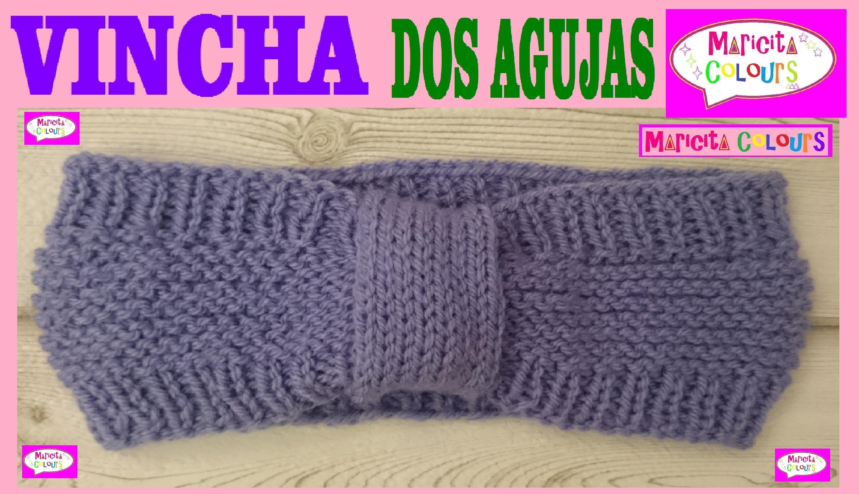 Vincha Diadema en Dos Agujas \