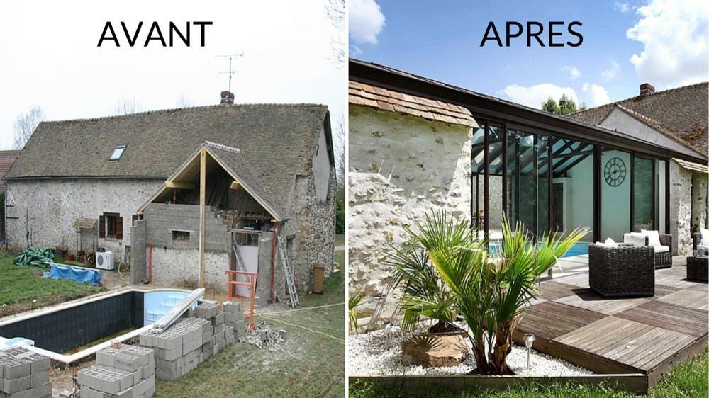 Avant apr s cr er une v randa en harmonie avec un - Renovation maison avant apres ...