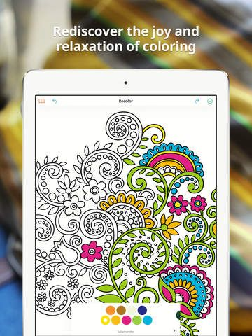 iPhone Recolor Coloring Book App - Coloring Outside the Lines ...