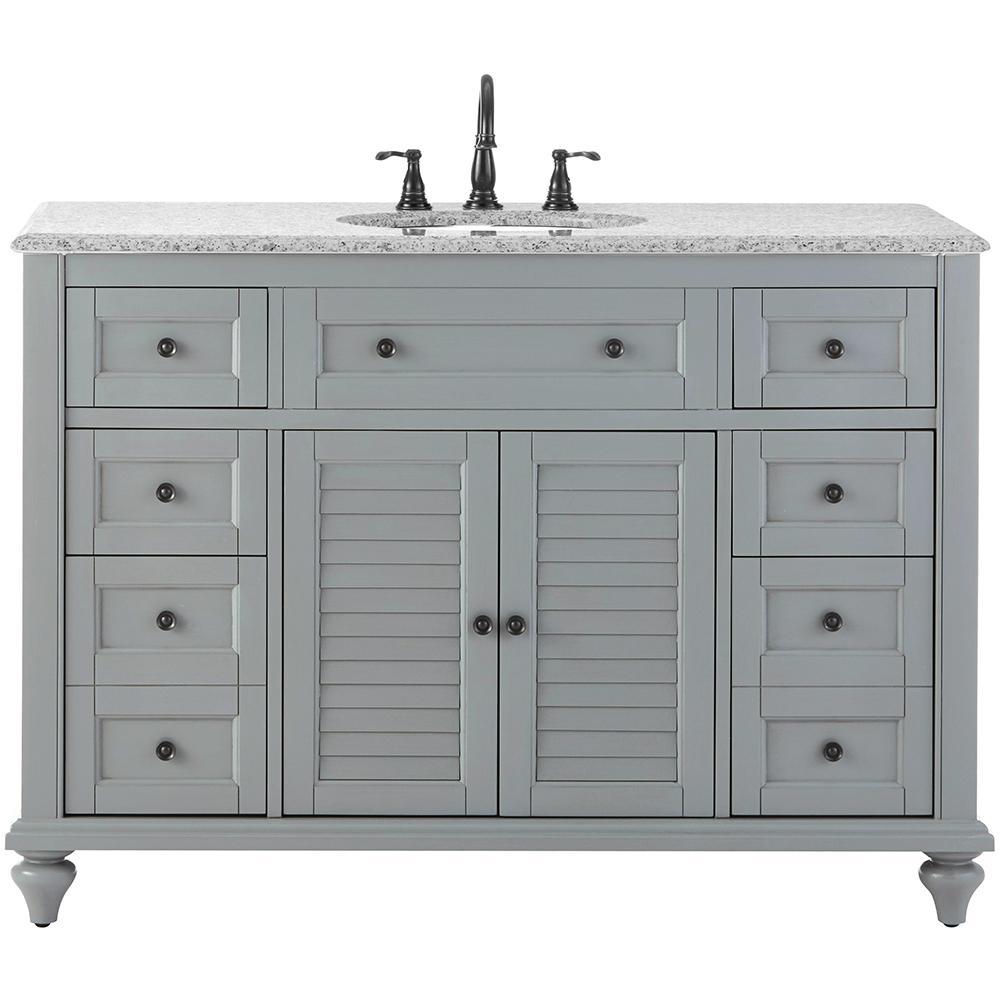 Website Picture Gallery Home Decorators Collection Hamilton in Vanity in Grey with Granite Vanity Top in Grey