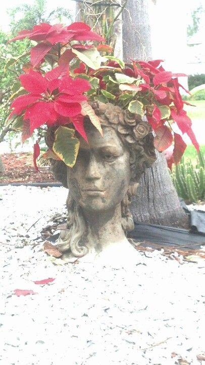 Garden Goddess Head Planter 2013