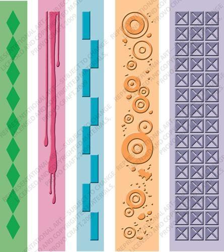 Cuttlebug® A2 Pop Culture Border Emboss Folder