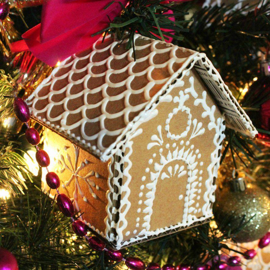 Cardboard Gingerbread House Elegant Mark Montano Cardboard Gingerbread House ornaments #gingerbreadhousetemplate