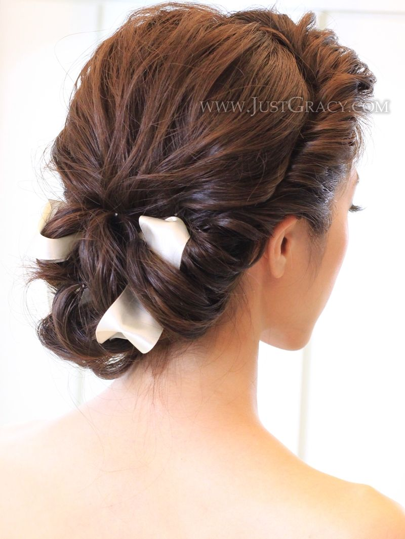 fresh and elegant bridal hairstyle by www.facebook