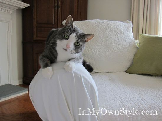 How To Cover A Sofa With A Tie Arm Throw Over Slipcover