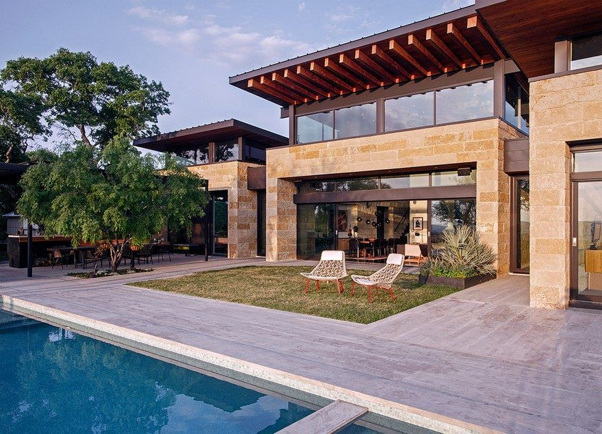 Lake View Residence With Tropical Retreat Details House Styles