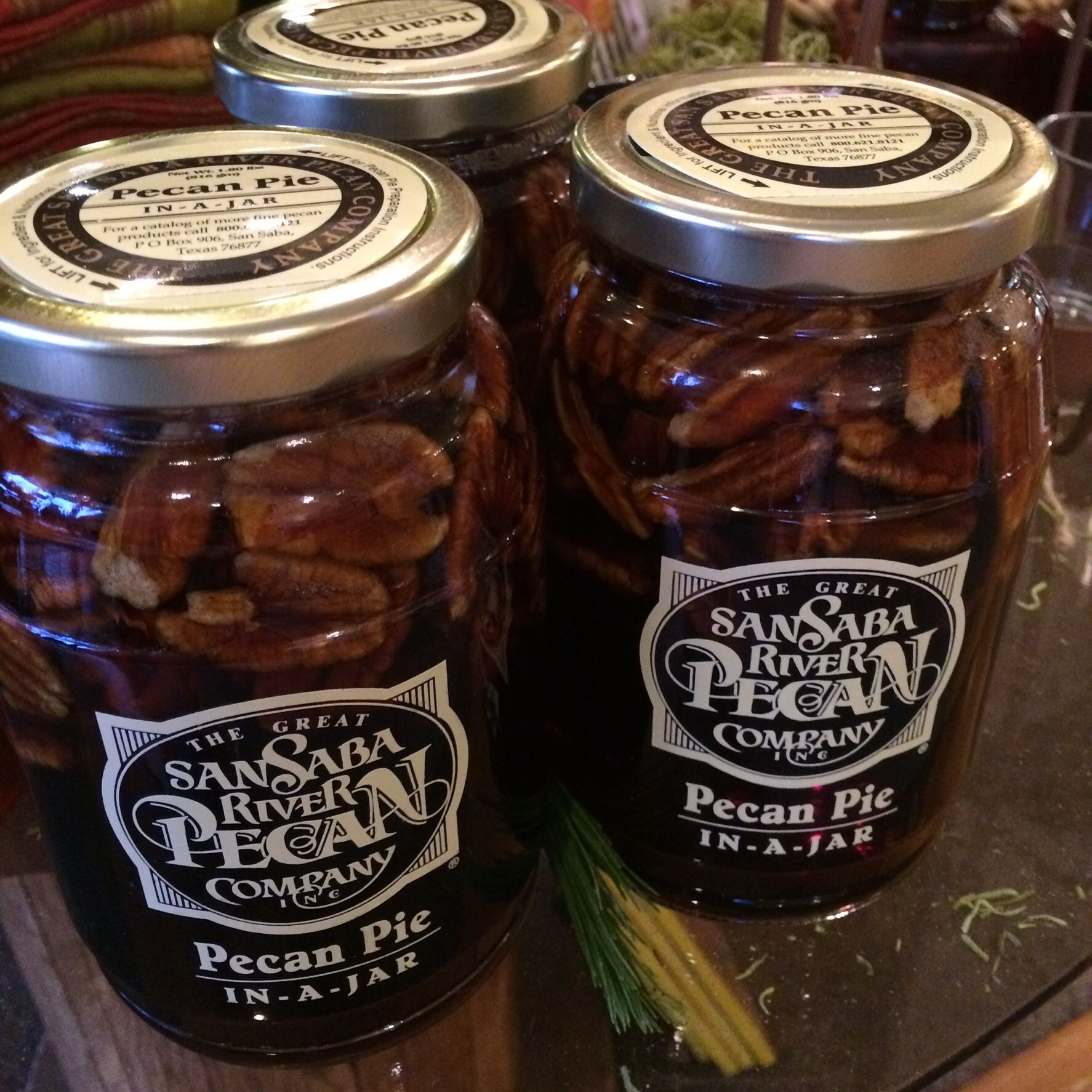 Pecan Pie in a Jar from San Saba River!  It is the best!