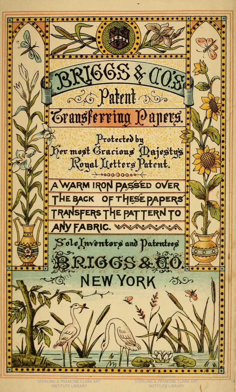 Briggs co patent transferring papers a warm iron passed over a warm iron passed over the back of these papers transfers the pattern to any fabric embroidery designs including designs by kate greenaway bankloansurffo Image collections