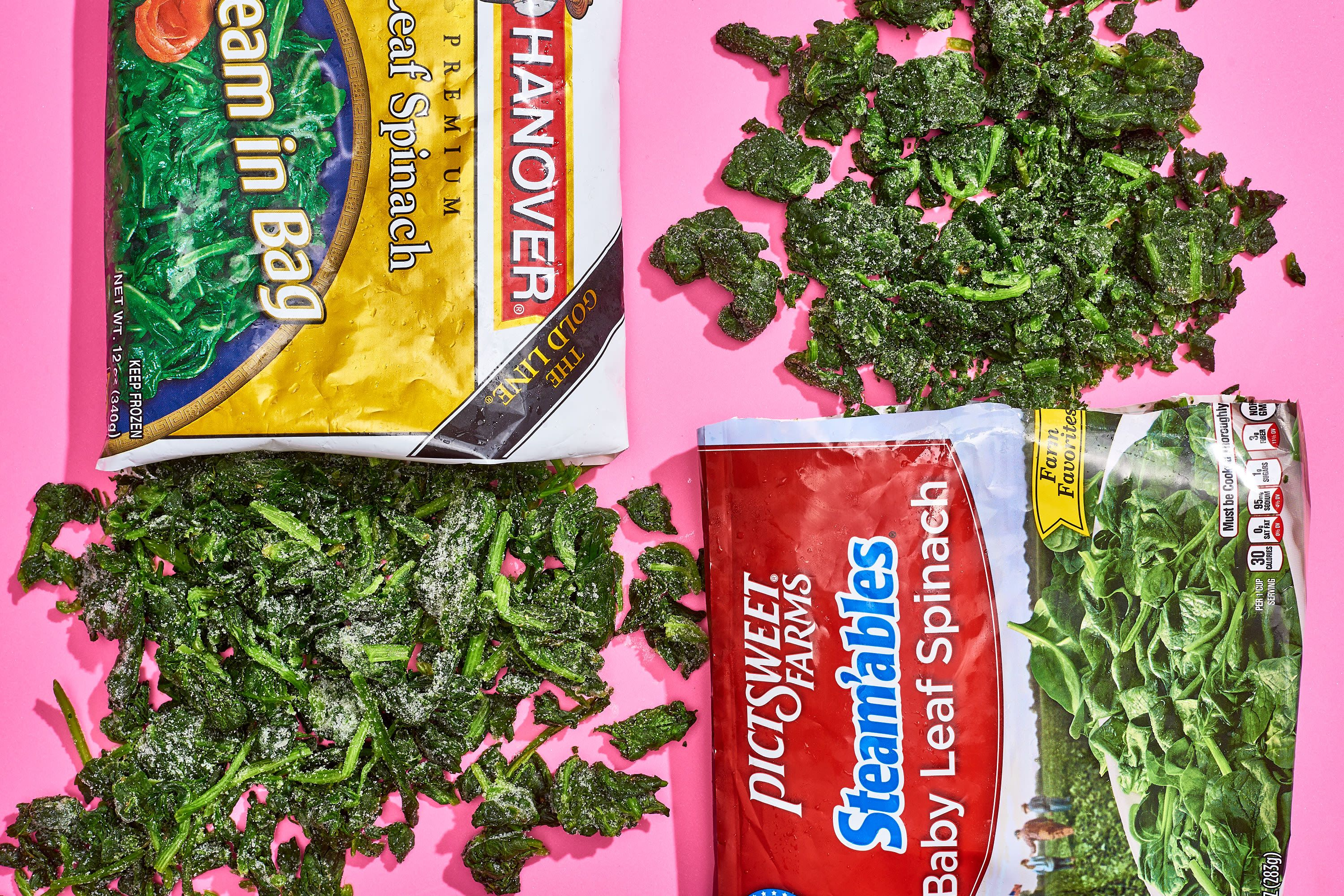 how best to freeze fresh spinach
