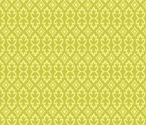 Bohemia-Leaves-Yellow & Green - bohemiangypsyjane - Spoonflower