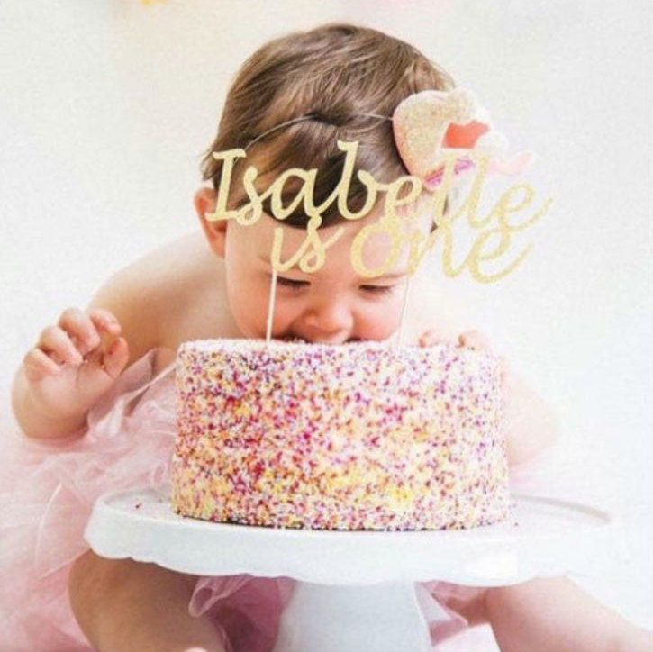 Glitter Cake Decoration Birthday Cake Topper 7th Birthday All Glitter. Birthday Custom Party Decoration with Any Name Any Age Personalised Cake Topper
