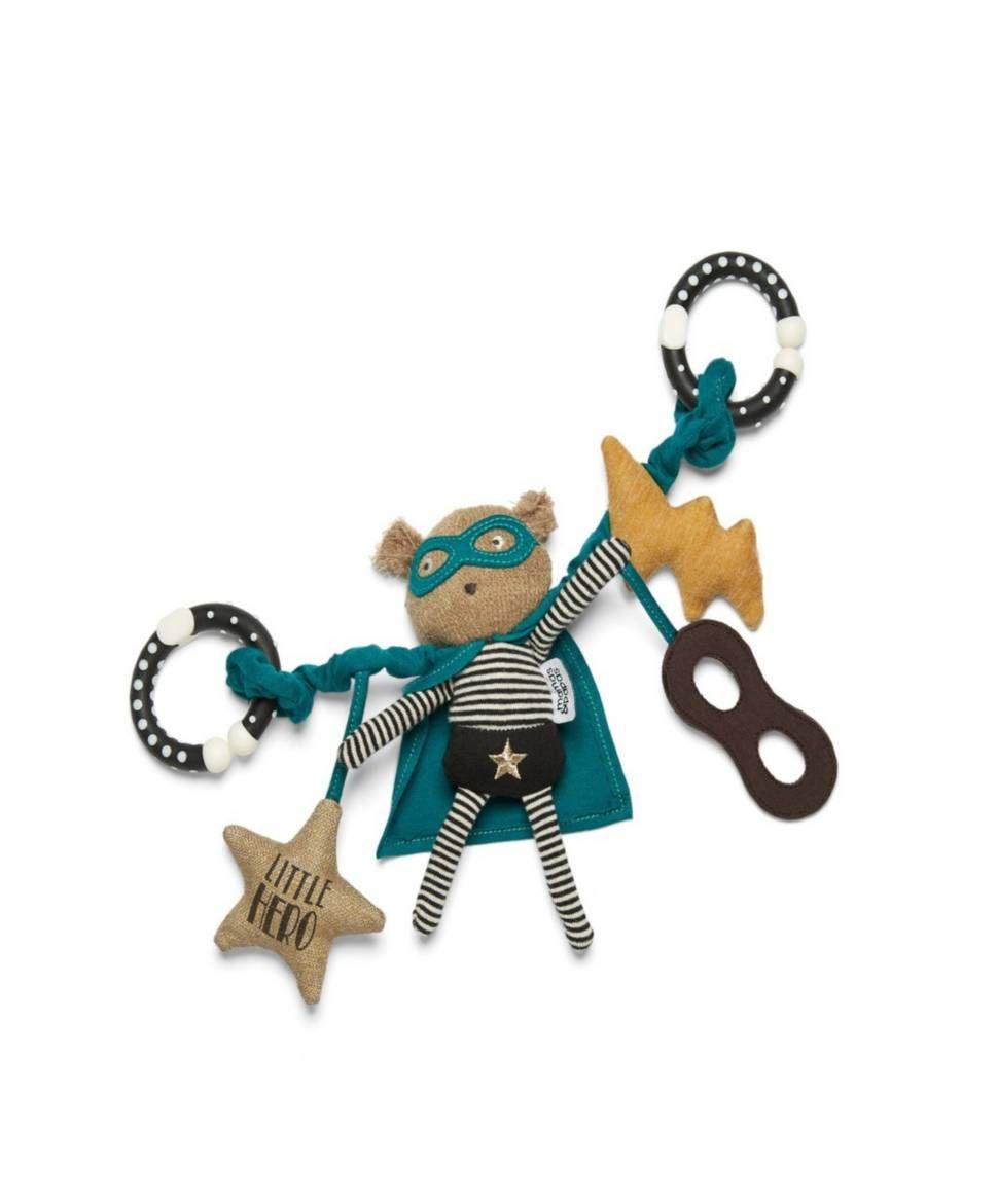 Car hanging toys  Superhero Pow Bear Hanging Travel Toy with Rattle  milo  Pinterest