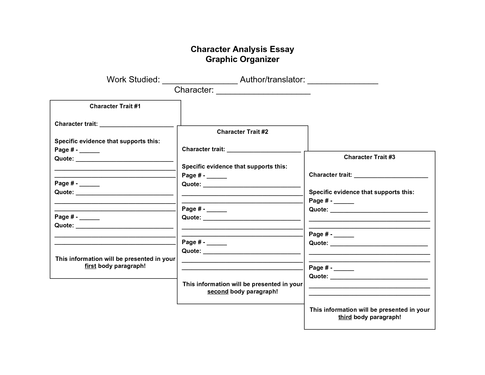 graphic organizers printable prompt paragraph organizer graphic organizers printable character analysis essay graphic organizer