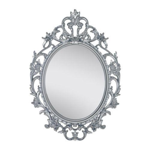 ikea vikersund spiegel ovaal zilverkleur kan worden gebruikt in ruimtes met een hoge. Black Bedroom Furniture Sets. Home Design Ideas